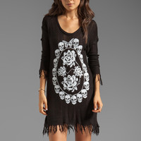 Lauren Moshi Gretta Skull Pendant Sweater Dress in Black from REVOLVEclothing.com
