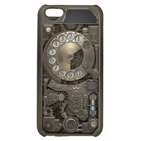 Steampunk Rotary Metal Dial Phone. Case For iPhone 5C