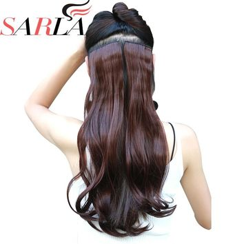 """SARLA Curly 1Pc 20"""" 24"""" 28"""" Clip in Hair Extensions Synthetic Hairpieces Highlight Hair Heat-Friendly Fiber 23 Colors Available"""
