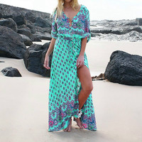Fashion Beach Prom Dress Bohemia Style One Piece Dress [9893988621]