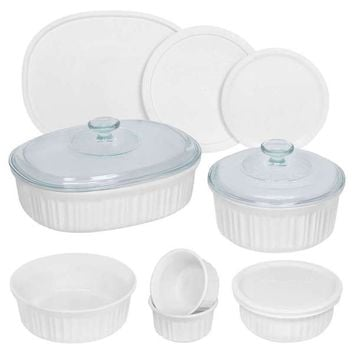 CorningWare French White 12-Piece Round and Oval Set | Overstock.com Shopping - The Best Deals on Casual Dinnerware