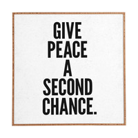 Nick Nelson Give Peace A Second Chance Framed Wall Art