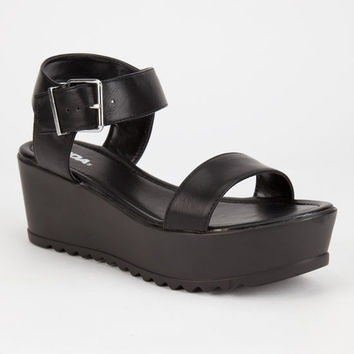 Soda Magali Womens Sandals Black  In Sizes