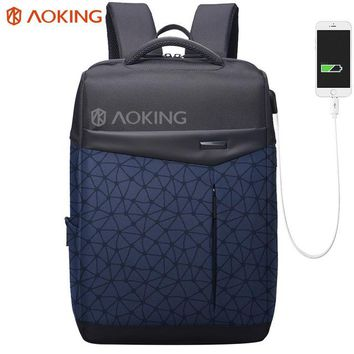 University College Backpack Aoking Waterproof Men  with Anti thief Pocket USB Charging  Students Bag Laptop  Urban Fashion school bagAT_63_4