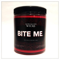 BITE ME citrus cherry vanilla scented soy 6 oz. jar anti-valentine