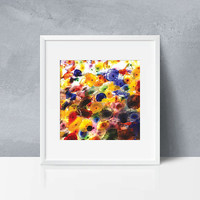 Abstract photography Print. Flower print. Floral print. Colorful floral print. Home wall art, Apartment wall art, gift, photo poster. Jelly.