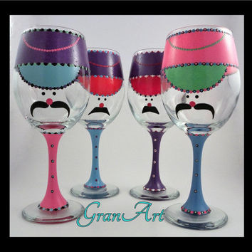 Nutcracker Wine Glass Fiesta Color, Toy Soldier, Fiesta Color, Nutcracker, Christmas Wine Glass, Painted Wine Glass, Hand Painted Wine Glass