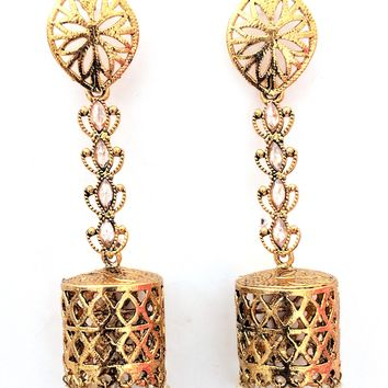 Teardrop stud Long Jhumka Earring