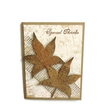 Leaves Thank You Card Thak You Cards