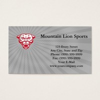 Mountain Lion Sports Business card