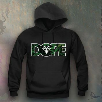 Dope Weed Leafs Hooded Sweatshirt Funny and Music