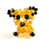 Beaded Tiger Figure Miniature