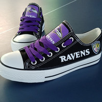 Baltimore Ravens Sneakers Canvas Shoes