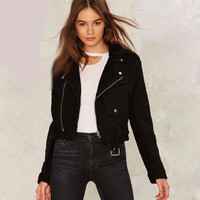 SIMPLE - Fashion Winter Women Zipper Solid Outerwear Jacket a13172