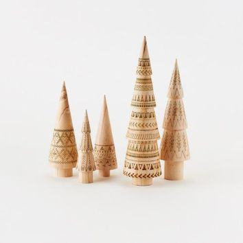 Etched Wood Tree 5 Piece Set by One Hundred 80 Degrees