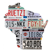 Wisconsin License Plate wall decal