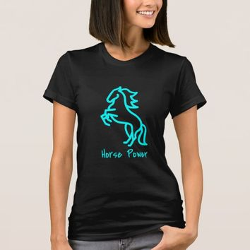 Horse Power in Blue T-Shirt