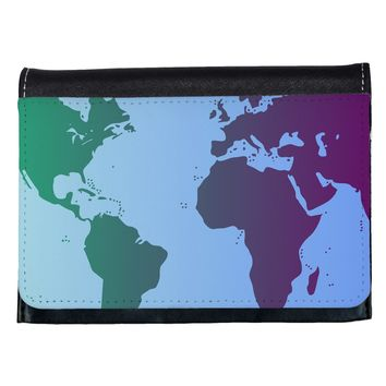 Cool World Map Design Ladies Wallet All Over Print