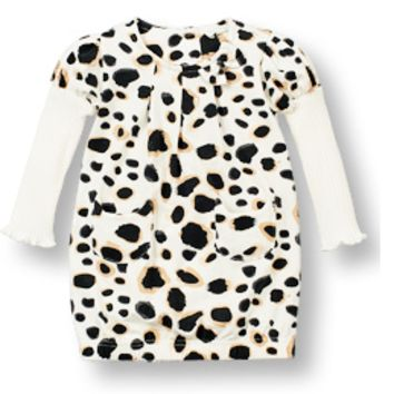 Leopard Print Dress with Long Sleeves