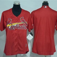 Women's St. Louis Cardinals Blank Majestic Cool Base Jersey