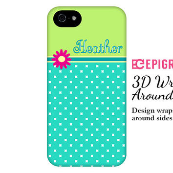 Personalized iPhone 6 case, lime green iPhone 6 plus case, custom iphone 5c case, iPhone 5s case, iPhone 4s case, Galaxy S6 case