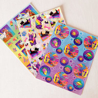 Vintage Lisa Frank Sticker Sheets, Rainbow Horse, and Kissing Fish