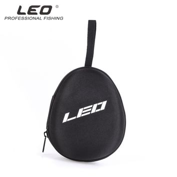 LEO Professional Water Drop Design Fishing Reel Storage Case  Portable EVA Layer Fishing Reel Container Bag for Spinning Reel