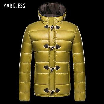 Men Down Jackets Clothing Men Casual White Duck Down Hooded Coats Male Outerwear Down Coats