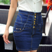 Super Sexy Pencil Jeans Mini Skirt