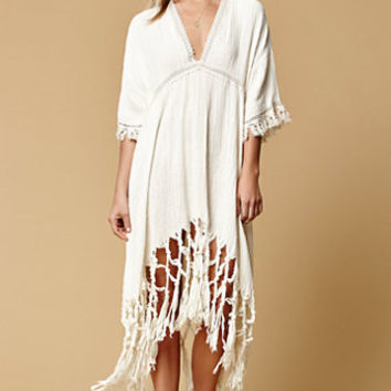 Somedays Lovin Sweet Talking Fringed Midi Dress at PacSun.com