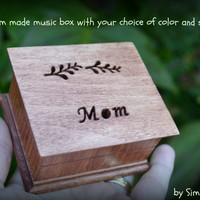 music box, wooden music box, gift for Mom, custom made music box, wedding music box, music box for Mom, personalized music box, xmas gift