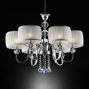 Chloe Traditional Ceiling Lamp In Chrome Finish