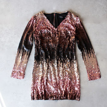 minkpink - moon dust sequin dress