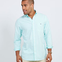 Sport Shirts for Men: Solid Oxford Slim-Fit Tucker Shirt for Men - Vineyard Vines