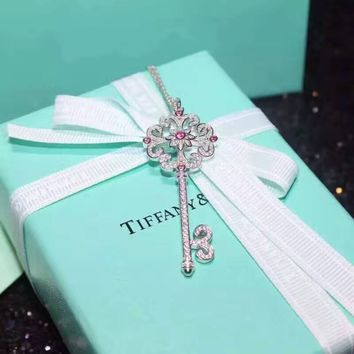Tiffany & Co. Purple Diamond Key Necklace