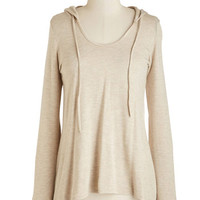 ModCloth Mid-length Long Sleeve Cookie Competition Hoodie in Oatmeal