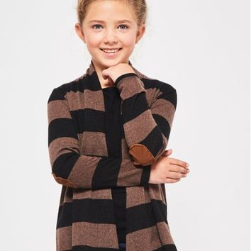 Girls Stripe Cardigan