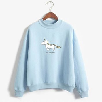 Run Unicorn Turtleneck Pullover