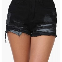 Destroy Denim Shorts