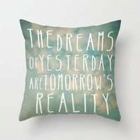 Dreams Of Yesterday Throw Pillow by Sandra Arduini | Society6