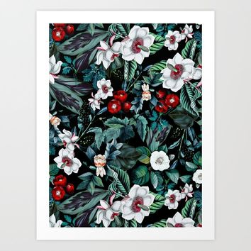Midnight Garden V Art Print by burcukorkmazyurek