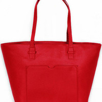 Red and White Waterproof Shoulder Bag