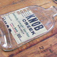 Knob Creek Flattened Bourbon Bottle
