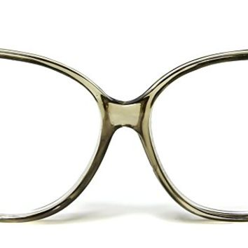 Gold Gray Reading Eyeglasses 2.25 Retro Womens Oversized Square Clear Lens