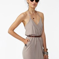 Tied Up Dress - Taupe in Clothes at Nasty Gal