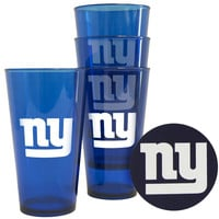New York Giants Plastic Pint Glass Set