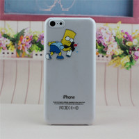 Transparent The Simpsons Bart Simpson Phone Back Cover Case Shell For Apple iPhone 5C