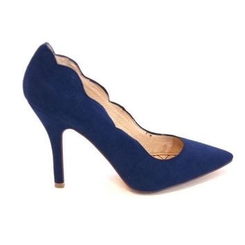 VONES2C Chinese Laundry Savvy - Blue Scallop Edge High-Heel Pump