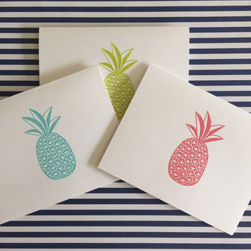 Bright Pineapple Notecards- You Choose The Color!