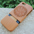 Natural Wooden Phone Case Twelve Zodiac Signs w/ Rhistones Cherry Wood Hard Back Case for iPhone 5